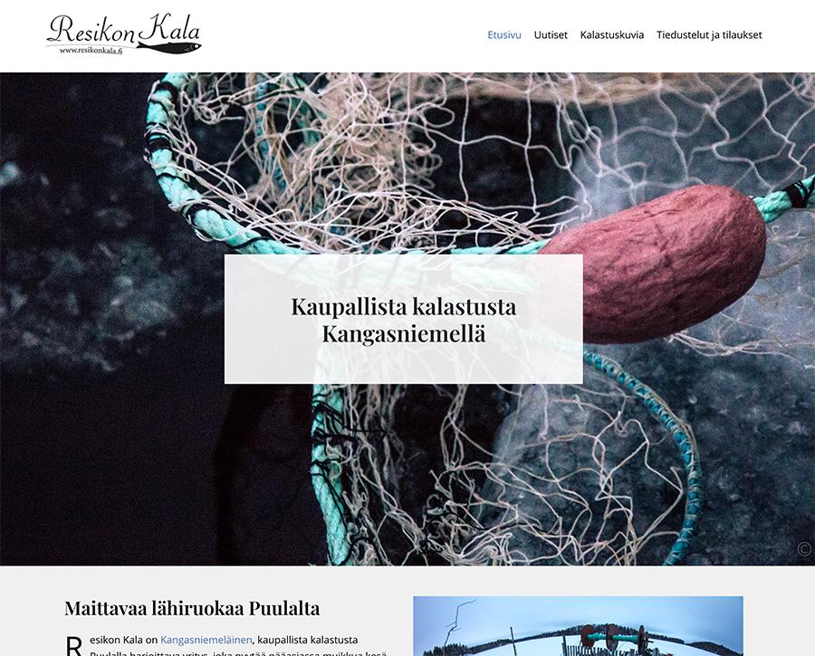 Resikon Kalalle logo ja nettisivut